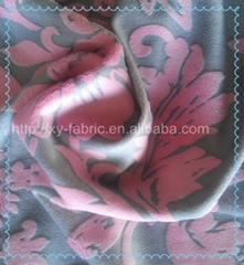 2013 new polyester fabric/burn-out printed soft velboa/fleece fabric for sofa/to