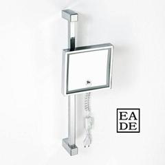 Wall shaving square magnifying mirror illuminated