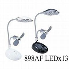 USB臺燈風扇(13顆LED)
