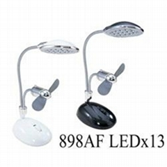 2-in-1 lamp and fan (with 13 led)
