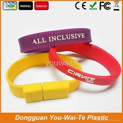 Special silicon wristband USB 2.0, USB flash disk for your promotion!
