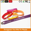 Special silicon wristband USB 2.0, USB flash disk for your promotion! 3