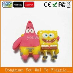 factory price SpongeBob shape usb flash memory, customized usb drives