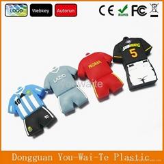 Manufacturer promotional gift usb flash drives, polo shirt shape PVC USB