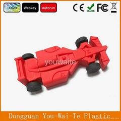 Cool Racing Car Shape PVC USB,Cartoon USB Key With Customized Logo