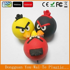 Promotional 3D Bird Shape Usb Flash Drives Plastic Usb
