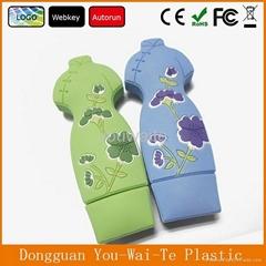 Full Capacity Cheap Cheongsam Shape PVC USB Flash Disk With Customized Logo