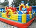 New Design Inflatable Toys Blue Cat Castle