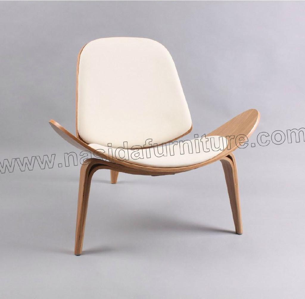 wegner shell chair ch07 ch198 natural nasida furniture china