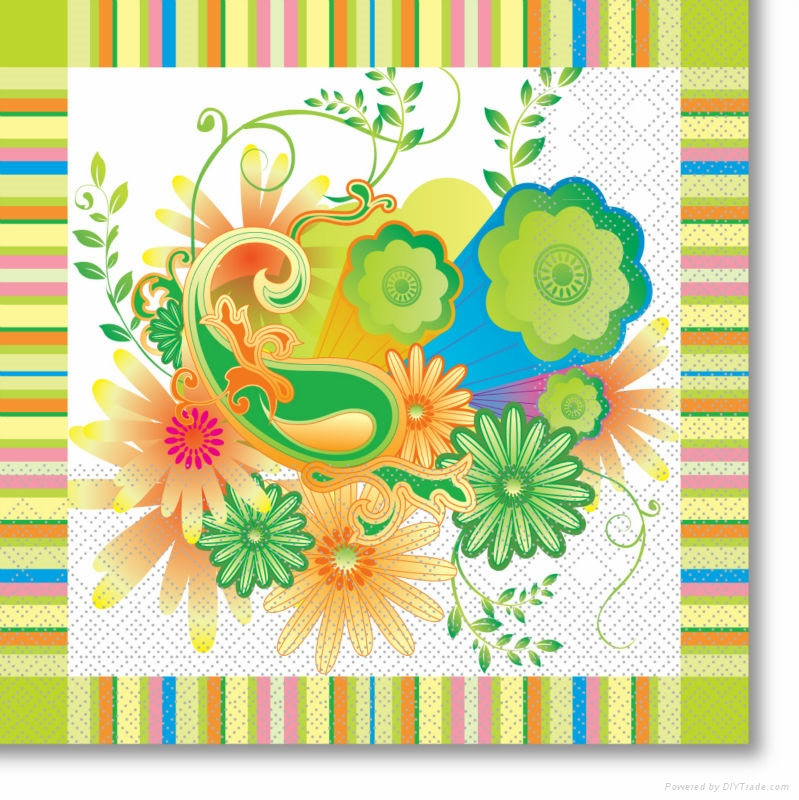 beverage color printed cocktail napkin 1