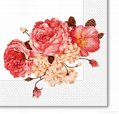 flower color printed paper napkin