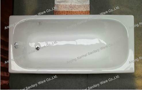 high quality build in cast iron bathtub NH-008 4