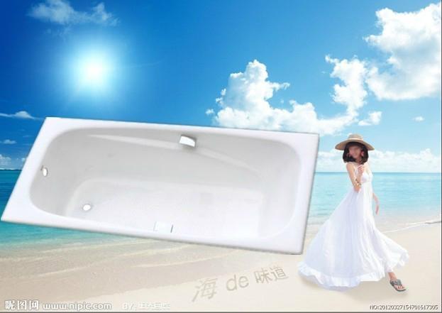2013 hot sale hotel cast iron bathtub 1