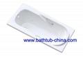 hot sale build in cast iron bathtub