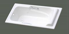 cheap build in cast iron bathtub NH-013