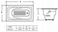 cheap build in cast iron bathtub NH-013 2