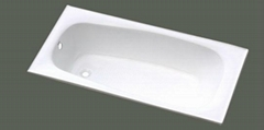 elegant build in cast iron bathtub NH-015