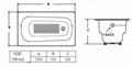 elegant build in cast iron bathtub NH-015 2