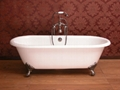 classic cast iron clawfoot double ended bathtub NH-1001 1