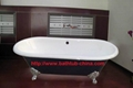 classic cast iron clawfoot double ended bathtub NH-1001 4