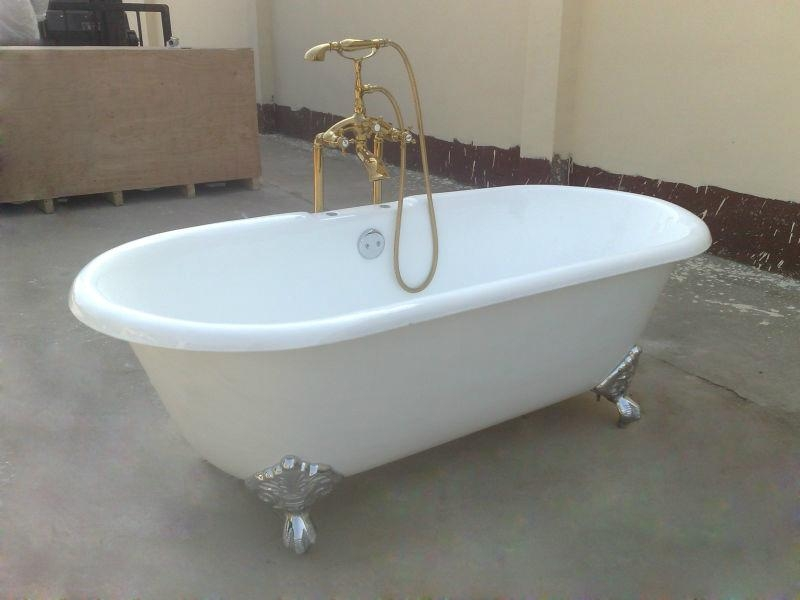 classic cast iron clawfoot double ended bathtub NH-1001 5