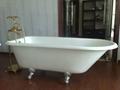 classic clawfoot cast iron bathtub