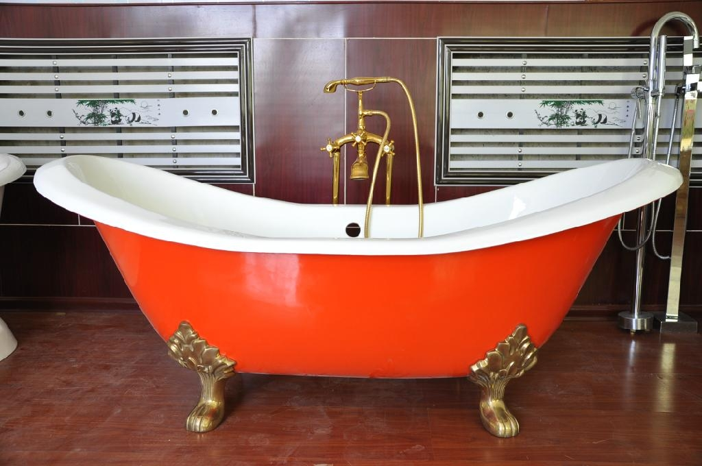 cast iron double slipper tubs NH-1005 2