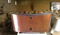 fashionable copper freestanding cast iron bathtub NH-1022-1 2