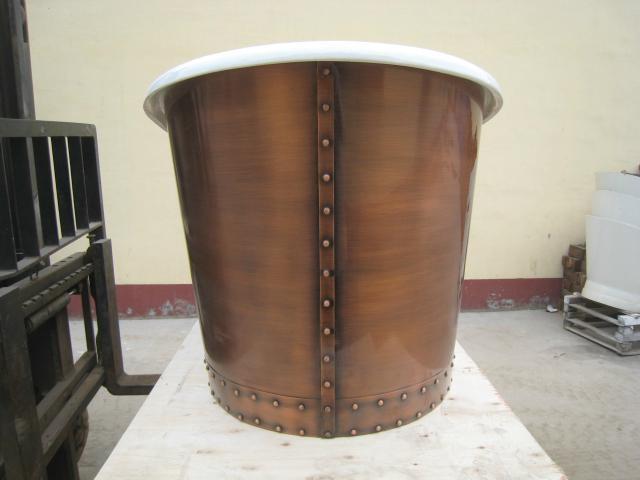 fashionable copper freestanding cast iron bathtub NH-1022-1 3