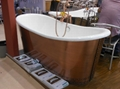 fashionable copper freestanding cast iron bathtub NH-1022-1 5