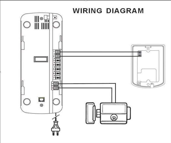 Wire Intercom System Doorbell   Home Automation Door