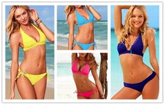 Lady Sexy with PAD Swimsuits Ladies Padded Bra Swimwear 2pc set Beachwear
