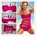 Hot sale brand lady's sexy bikinis beachwear hot open swimming suit