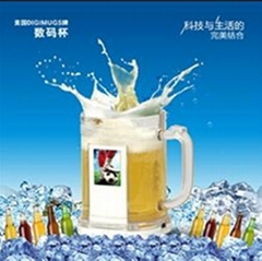 2013 most inventive promotion gift beer digimugs digital beer mugs