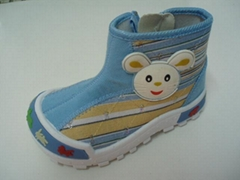 new style for children's fashion hight cut injection shoes