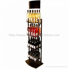 Free standing Metal Floor Wine Display Shelf