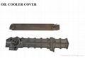 MITSUBISHI aluminum oil cooler cover OEM 6D14 MEO034573
