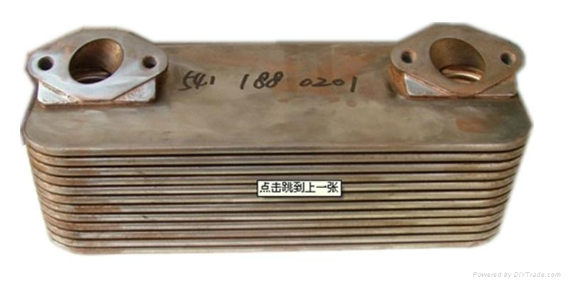Auto Mobile Engine Oil Cooler : Car engine stainless steel oil cooler for benz truck