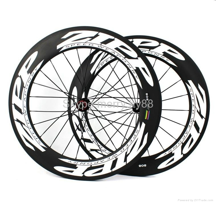 ZIPP 808 Carbon Wheels,700C Carbon Fiber Road Bike Clincher/Tubular Wheelset 1