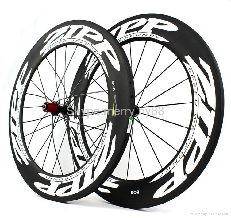 ZIPP 808 Carbon Wheels,700C Carbon Fiber Road Bike Clincher/Tubular Wheelset 5