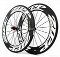 ZIPP 808 Carbon Wheels,700C Carbon Fiber Road Bike Clincher/Tubular Wheelset 5