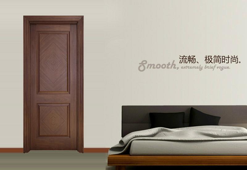 柚木封閉漆房間門MPA-02 2