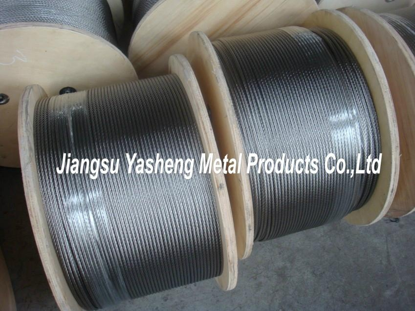 """AISI316 7X19 3.2mm (1/8"""") Stainless Steel Wire Rope - Yasheng ..."""