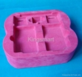 Vacuum formed flocking blister trays for cosmetics 3