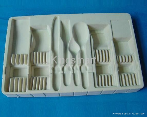 Vacuum formed flocking blister trays for cosmetics 4