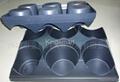 Vacuum forming plastic trays for