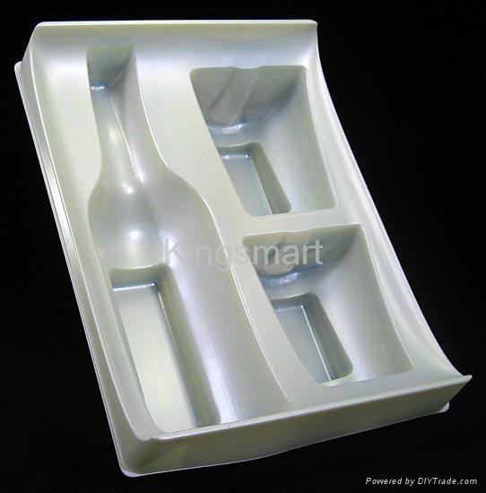 Plastic vacuum forming blister packaging for wine bottles 4