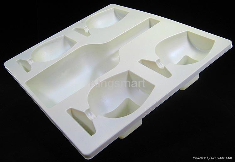 Plastic vacuum forming blister packaging for wine bottles 5