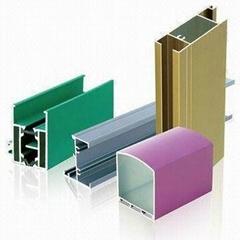 aluminium profiles extrusion with different powder coating colors for aluminium