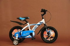kids bike with the cover of the wheels